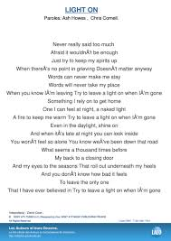 David Cook Light On Paroles Et Musique Ash Howes Lalo Pro