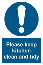 keep kitchen clean keep kitchen clean and tidy sign buy ireland uk
