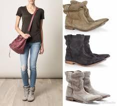 womens biker boots nz ankle boots suede autumn shoes flat nubuck leather retro