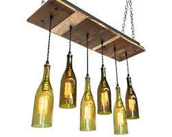 Glass Bottle Chandelier Wine Bottle Chandelier Rustic Chandelier Modern Lighting
