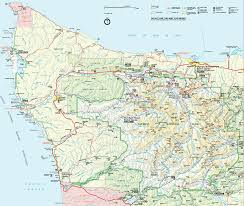 Washington Park Map by Olympic National Park Map Olympic National Park U2022 Mappery
