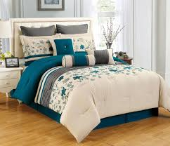 9 piece king selene teal and beige comforter set comforter teal