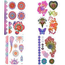 henna tattoo stickers ebay