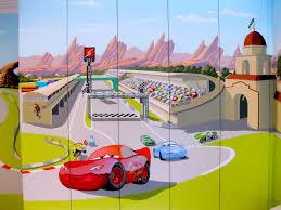 pixar u0027s cars mural for
