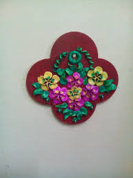 crafts for home decor shilpkar decoration on pot peacock design