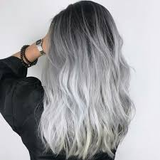 black grey hair grey hair girl tumblr