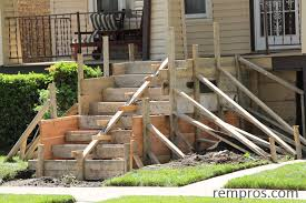 building concrete stairs to front porch