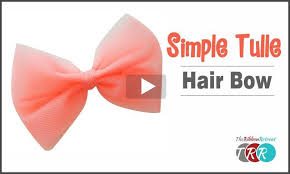 tulle hair bows archives the ribbon retreat