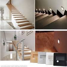 recessed lighting modern indoor stair wall regarding ideas led
