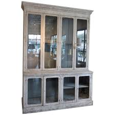 Vintage Pharmacy Cabinet 19th Century French Pharmacy Cabinet With Antique Glass At 1stdibs