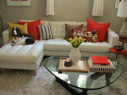 Curved Leather Sofas For Sale by Black Leather Sofa With Orange Pillows Centerfieldbar Com