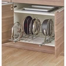 kitchen cabinet door pot and pan lid rack organizer pot lid organizers martha stewart
