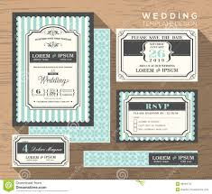 Wedding Invitations With Free Response Cards Wedding Invitation Set Design Template Stock Photo Image 48464729