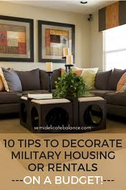 10 tips to decorate military housing or rentals on a budget