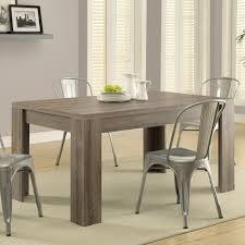 60 inch kitchen table monarch specialties 1055 dining table in dark taupe beyond stores