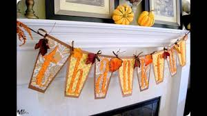 Homemade Thanksgiving Decorations by Easy And Simple Thanksgiving Crafts Kids Youtube