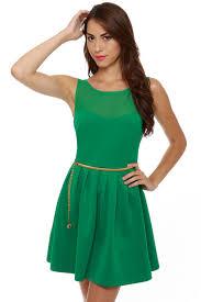 sleeveless dress green dress sleeveless dress belted dress 50 00
