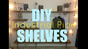 How To Make A Pipe Bookshelf Diy Industrial Pipe Shelves Youtube