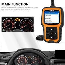 check engine light goes on and off o2 sensor amazon com ancel ad410 enhanced obd ii vehicle code reader