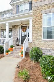traditional craftsman homes front porch steps with pumpkins traditional craftsman style home
