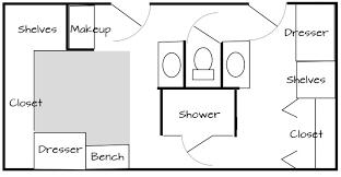 his and bathroom floor plans bathroom and closet combo floor plans thesecretconsul com