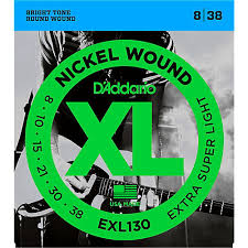 light electric guitar strings d addario exl130 nickel extra super light electric guitar strings