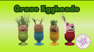 make your own grass eggheads diy craft for kids fun by the