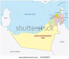 arab map united arab emirates map free vector stock