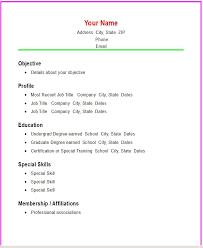 downloadable resume format sle resume format sle templates doc high school me