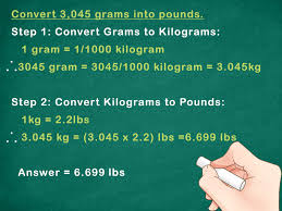 how to convert metric weight to pounds 7 steps with pictures