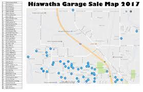 Iowa City Map City Wide Garage Sales U2013 May 6th U2013 City Of Hiawatha News