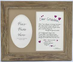 grandmother gift dear poem and picture frame grandmother gift