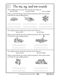 Oa Worksheets 1st Grade Kindergarten Reading Worksheets Vowel Sounds Oa Oi