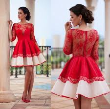 pretty long sleeve homecoming dresses short red homecoming dresses