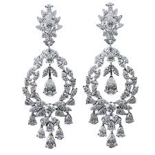 dimond drop diamond drop earrings cluster pear shape marquise shape for sale