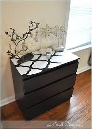 Painting Malm Dresser Ikea Malm Dresser Painted Drawers Are Covered With Fabric