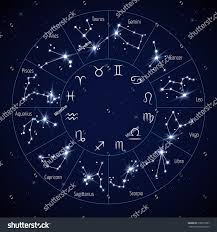 Constellations Map Zodiac Constellation Map Leo Virgo Scorpio Stock Illustration