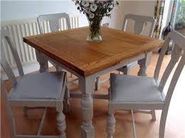 Vintage Shabby Chic Oak Extending Kitchen Table  Chairs Dining - Extending kitchen tables and chairs