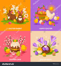 set easter spring holiday concepts vector stock vector 372839890