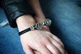 leather bracelet with sterling silver images Steal your face sterling silver leather bracelet cynthia gale jpg