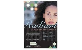 beauty u0026 hair salon brochure template design