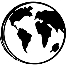 earth globe sketch icons free download