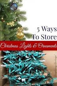 storing tree lights lights card and decore