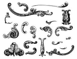 free vectors engraved ornaments bittbox