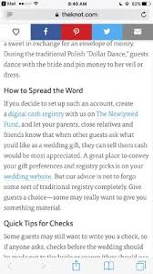 wedding money registry the newlywed fund digital registry what weddings