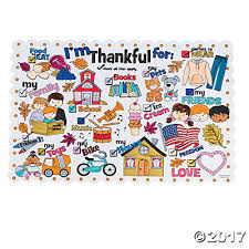 your own i m thankful for thanksgiving place mats