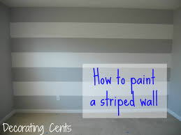 Bedrooms With Grey Walls by Decorating Cents Painting A Striped Wall For The Home