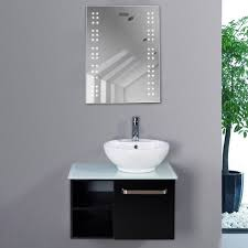 Mirrors Bathroom Bathroom Illuminated Mirror With Led Lights Demister Mirrors
