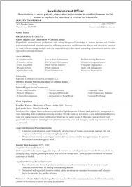 exles of a summary on a resume resumes lawforcement resume officer objective exles great