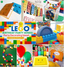 Decoration Ideas For Birthday Party At Home Lego Birthday Party Series Party Decorating Ideas